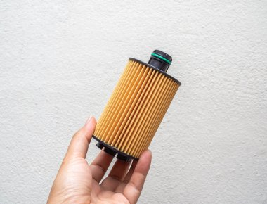 Oil filter. Car fuel filter isolated on white background