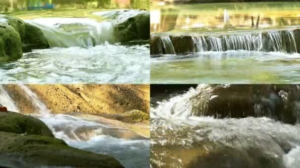 Proudu vodopádu na skalách v přírodě