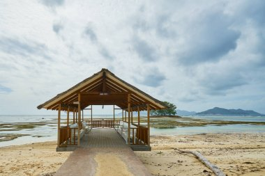 Pontoon, la digue, seychelles , union estate farm, small jetty