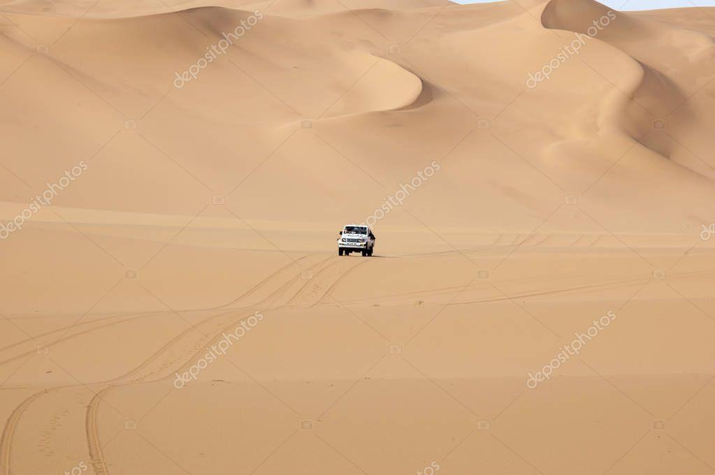 off-road in the sand desert