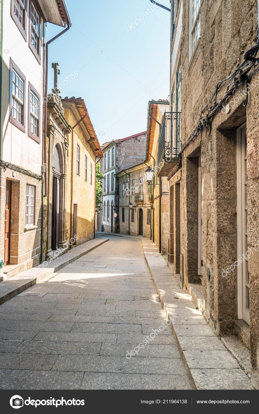 Arquitetura Centro Histórico Guimarães Portugal Património Mundial Unesco —  Fotografia ... 9d25e09524d99