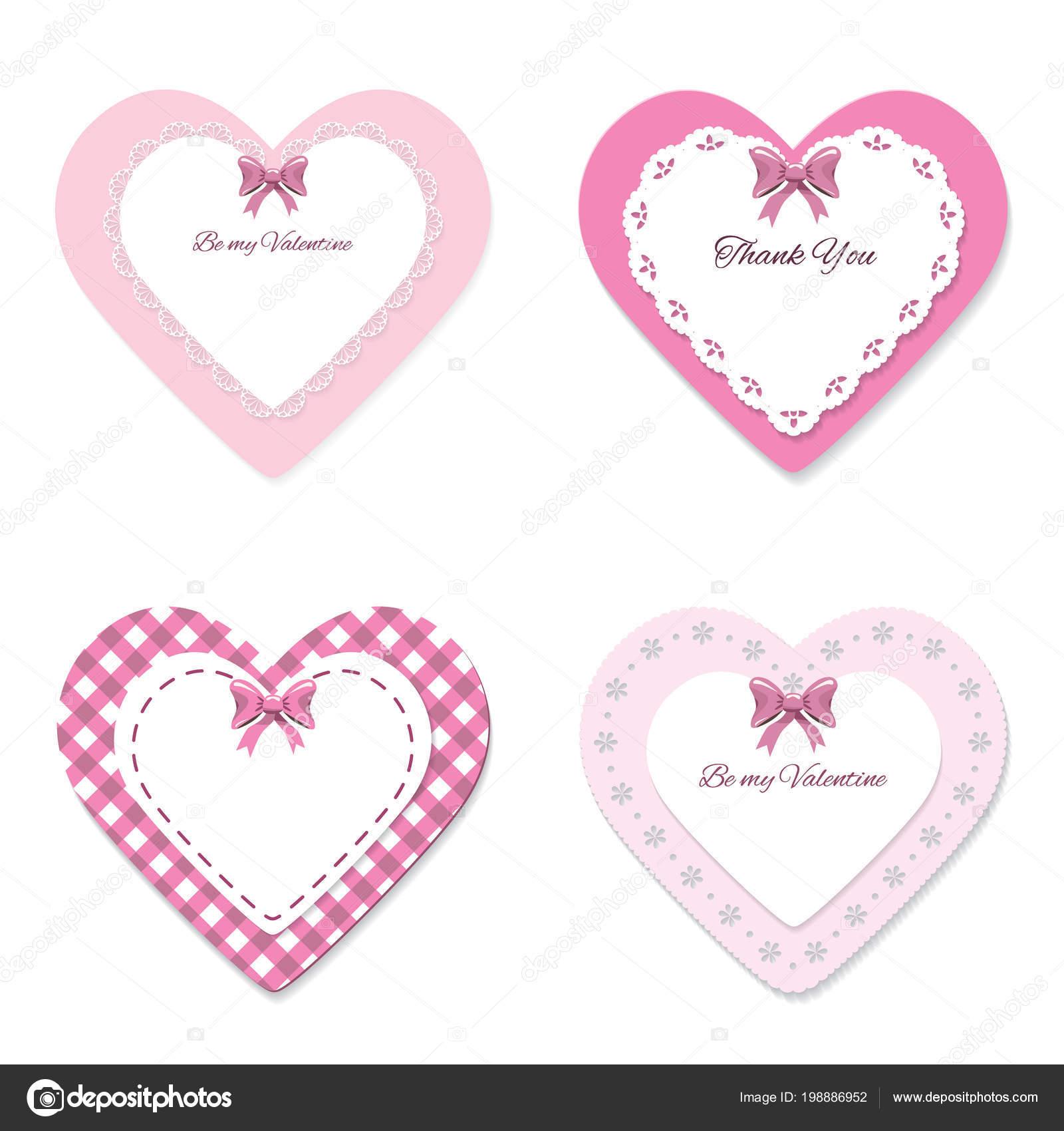 Niedliche Lacy Hearts Reihe Girly Scrapbook Design Valentinstag ...