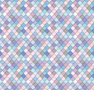 """Картина, постер, плакат, фотообои """"Модные фреска мозаика фон в пастельные розовый и фиолетовый с блестками элементами. Идеально подходит для оберточной бумаги, дизайн мобильных обложки. Растровые"""", артикул 215172888"""