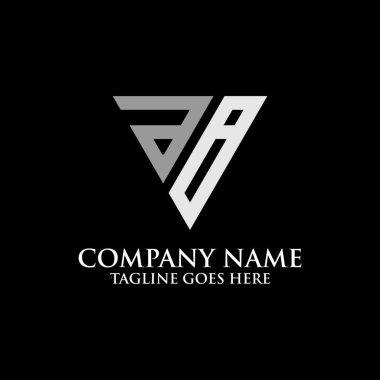Triangle  AB logo design inspiration, good for sport company logo icon