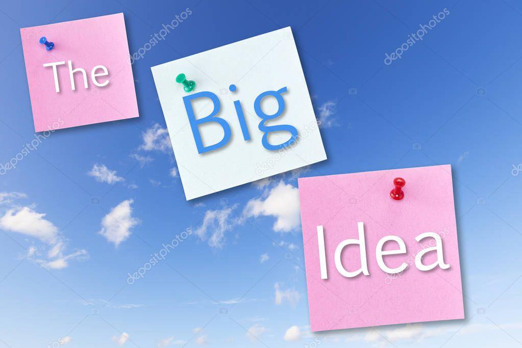 Big Idea Concept on Blue Sky