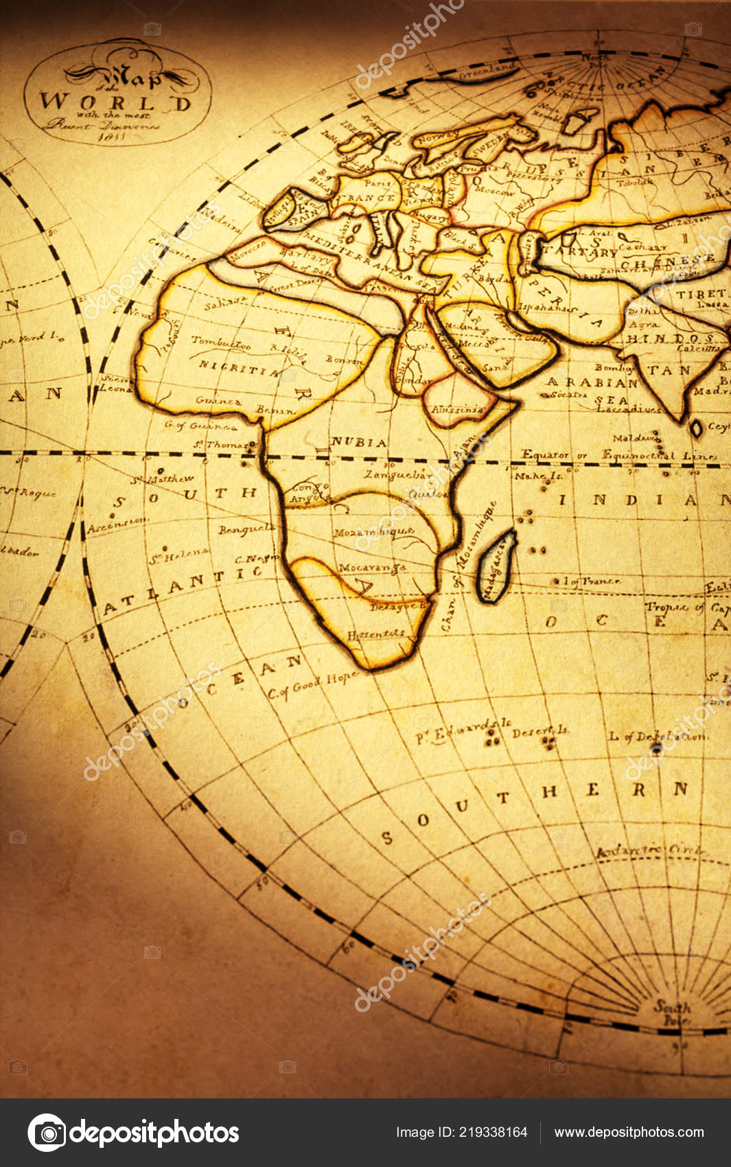 old world map of africa Old World Map Vintage Stock Photo C Travellinglight 219338164 old world map of africa
