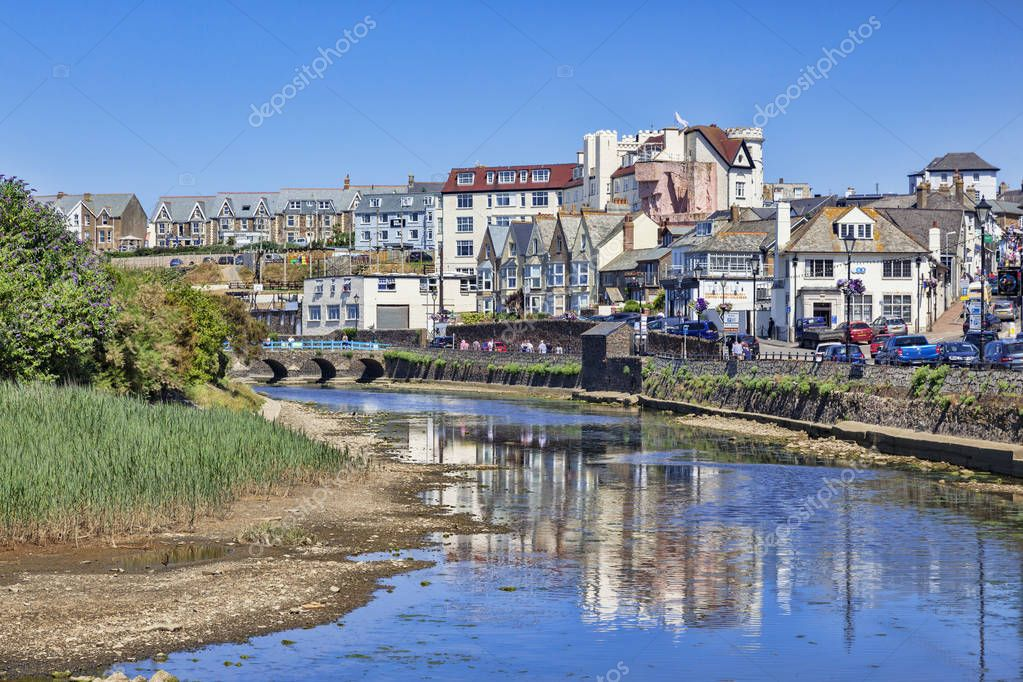Bude and the River Neet Cornwall UK