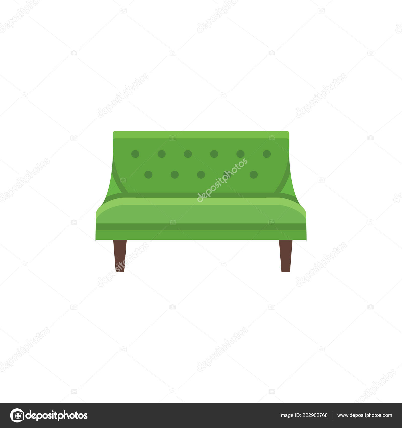 Outstanding Modern Sofa Seaters Couch Vector Illustration Flat Icon Alphanode Cool Chair Designs And Ideas Alphanodeonline