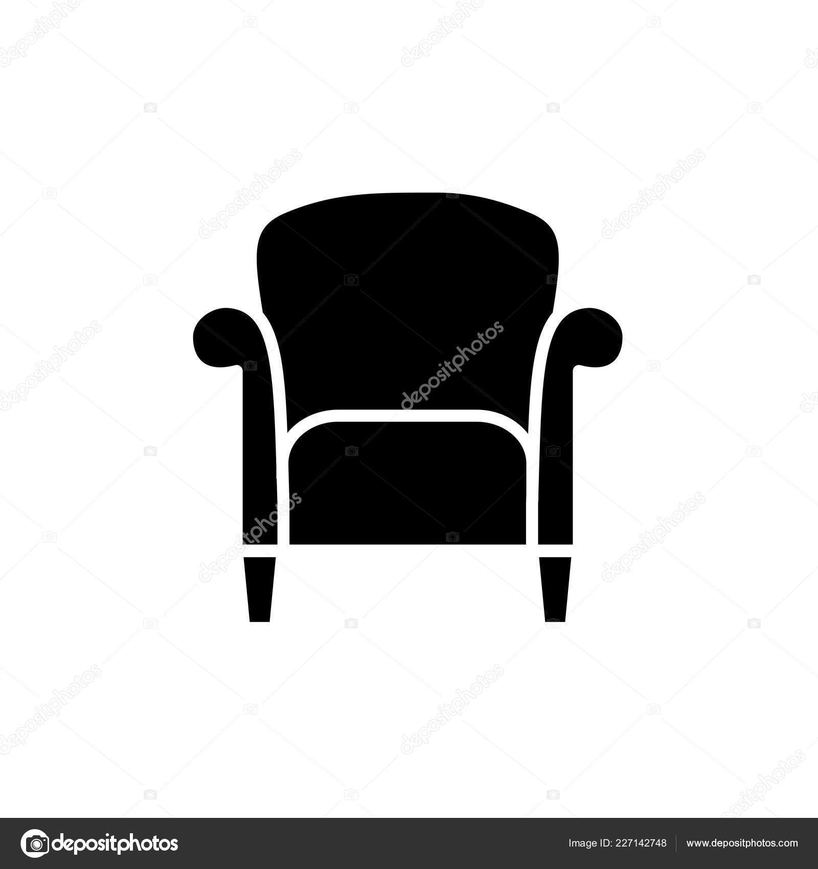 Fabulous Black White Vector Illustration Retro Style Armchair High Home Remodeling Inspirations Genioncuboardxyz