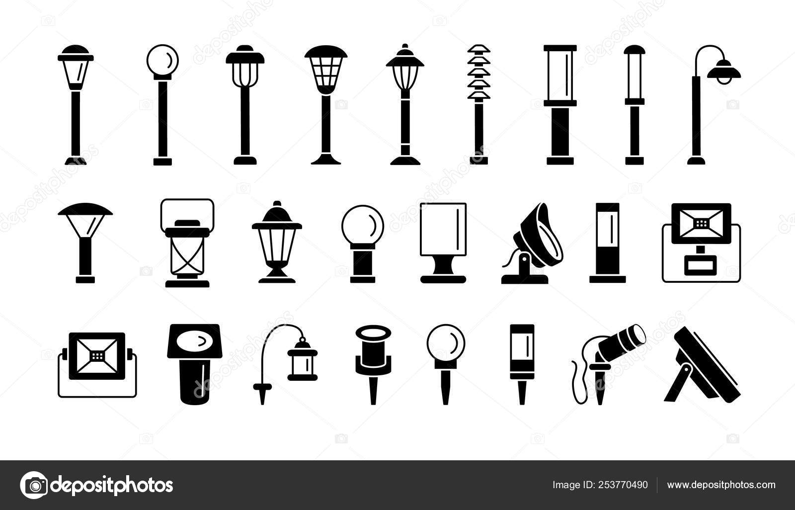 landscape path lights for patio deck yard outdoor garden lig stock vector c milta 253770490 landscape path lights for patio deck yard outdoor garden lig stock vector c milta 253770490