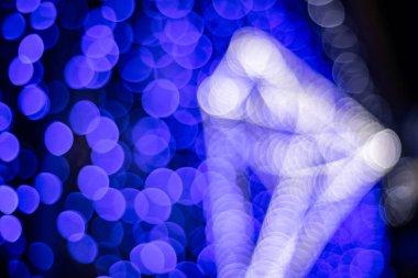 Light color bokeh abstract texture blur art