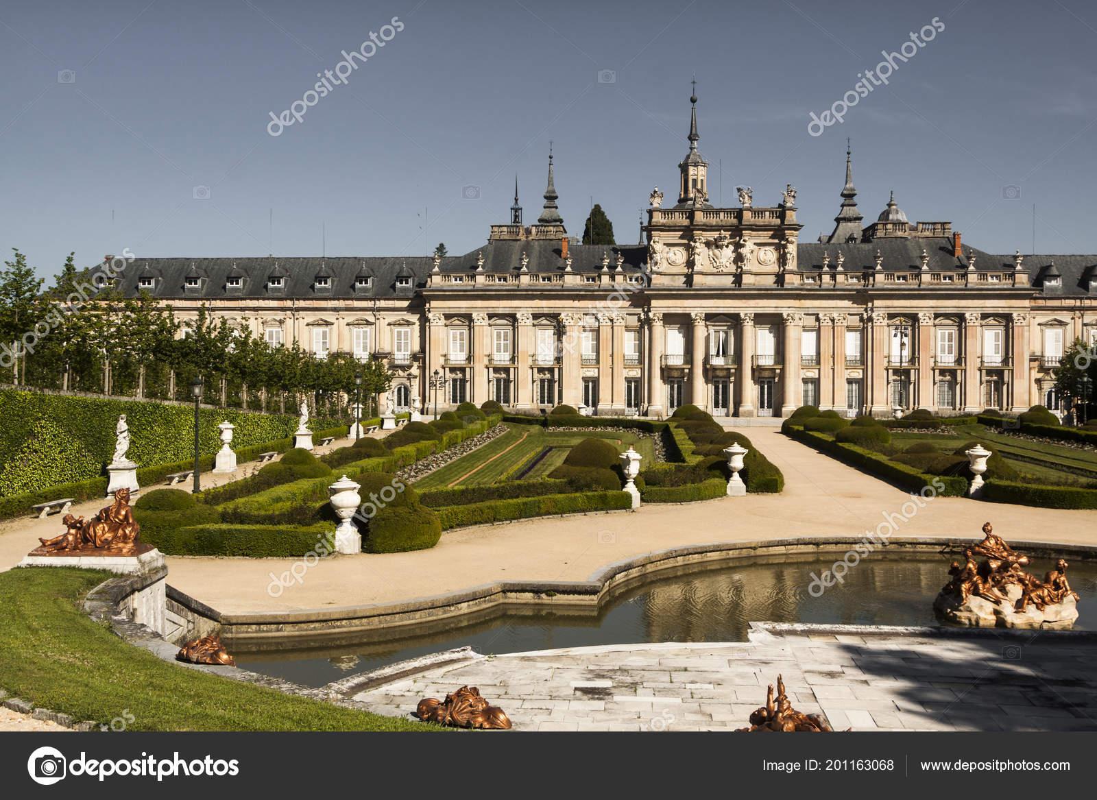 Palace Granja San Ildefonso Segovia Spain Gardens Fountains Light ...