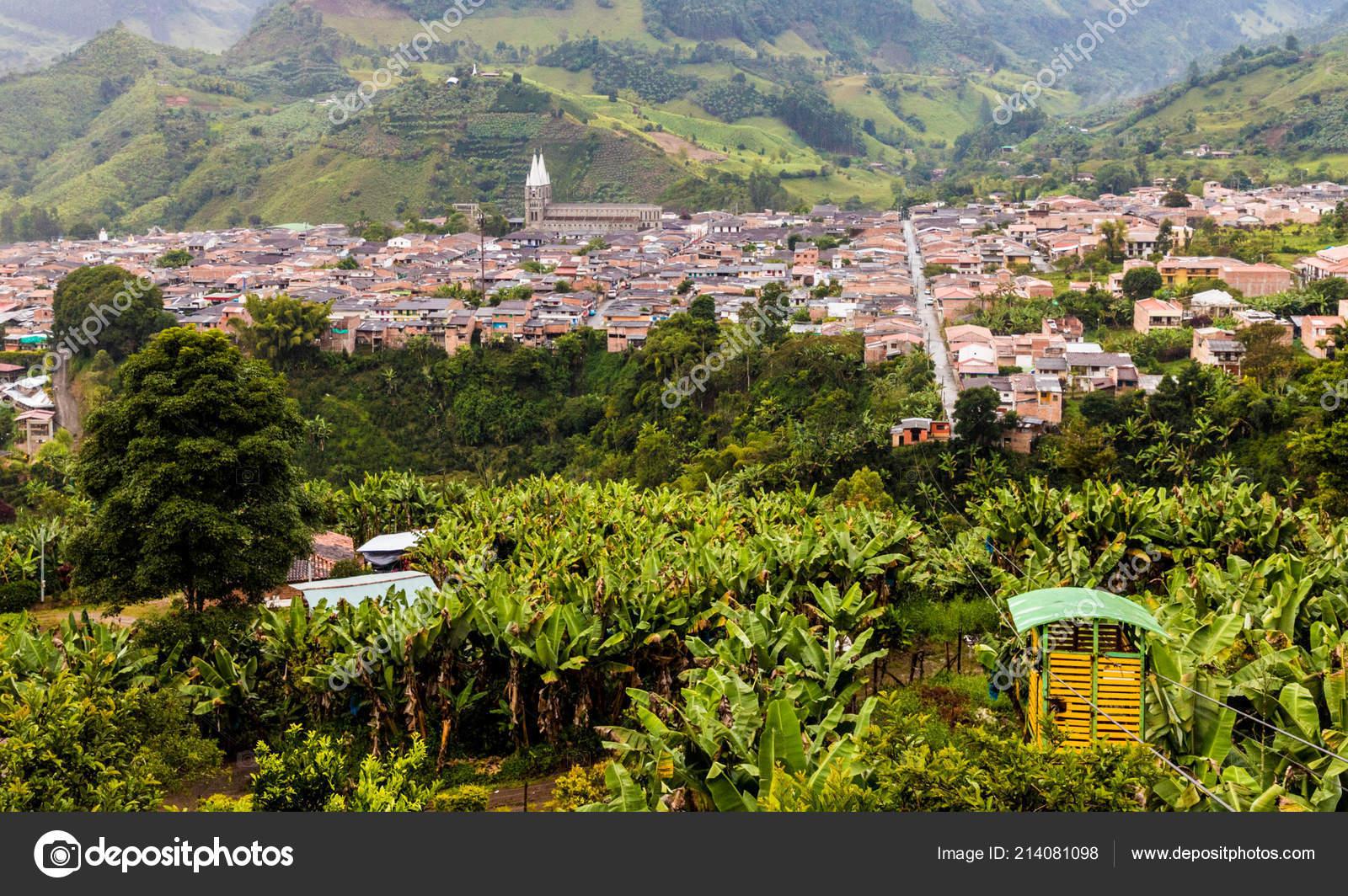 Une Vue Typique Dans Le Jardin En Colombie Photo Editoriale