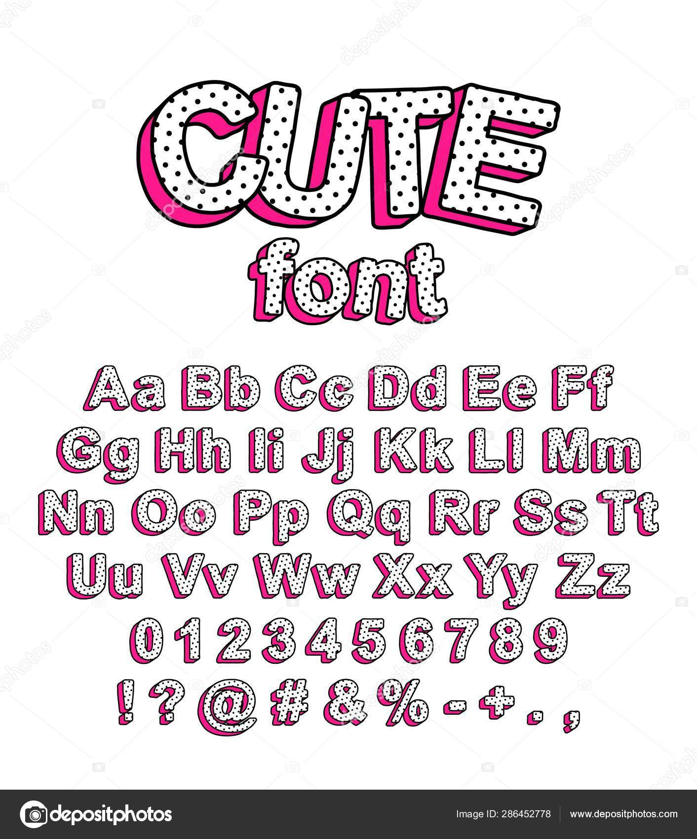 Cute Lol Doll Surprise Style Font Stock Vector C Ovnex