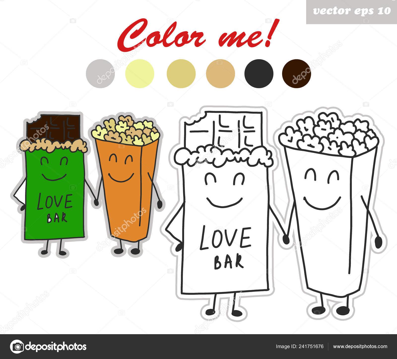 Coloriage Adulte Histoire.Coloriages Autocollants Livre De Chocolat Et Pop Corn