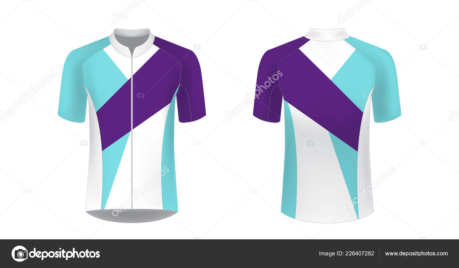 ef6775d99 Cycling Jersey vector mockup. T-shirt sport design template. Sublimation  printing for sportswear. Apparel blank for triathlon