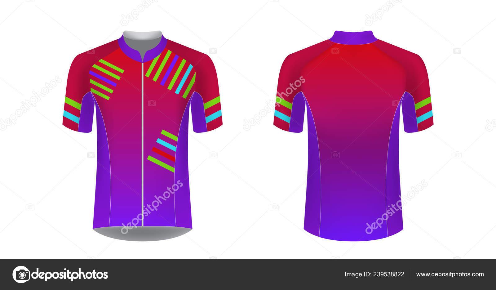 790a0168a Sportswear Templates Designs Sublimation Printing Uniform Blank Triathlon  Cycling Cross — Stock Vector