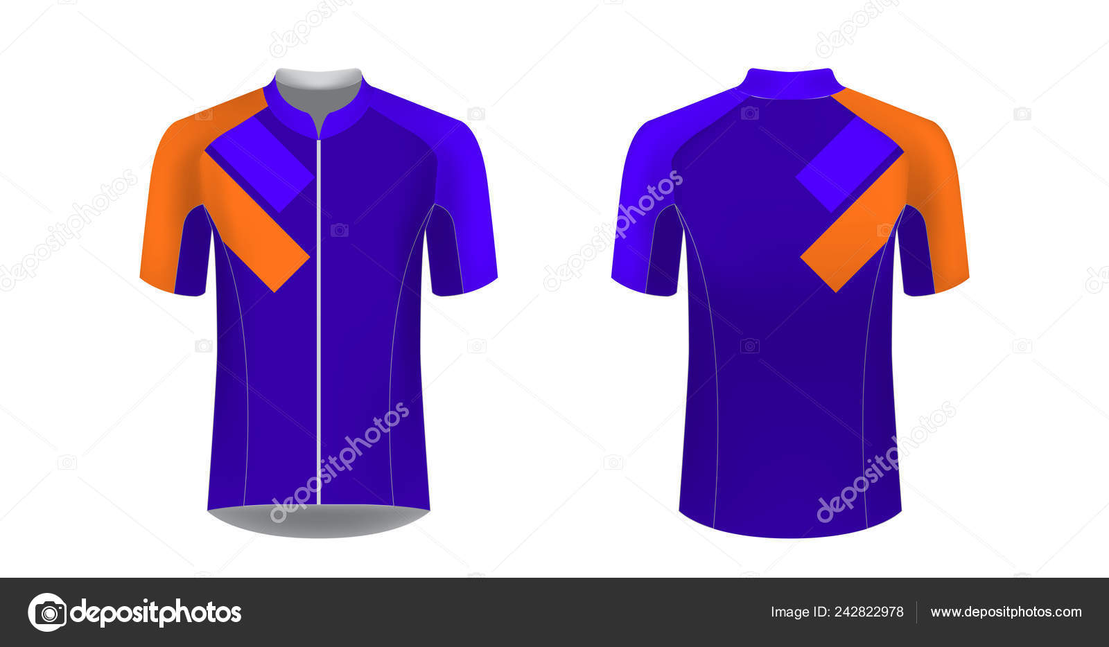 Cycling Uniform Templates Gaming Casual Clothing Concept Racing Stock Vector