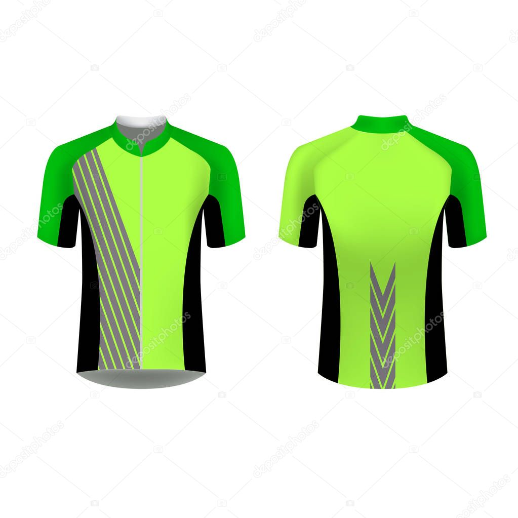Cycling Jersey Vector Mockup T Shirt Sport Design Template Sublimation Printing For Sportswear Apparel Blank For Triathlon Cycling Running Competition Marathon And Racing Games Premium Vector In Adobe Illustrator Ai Ai