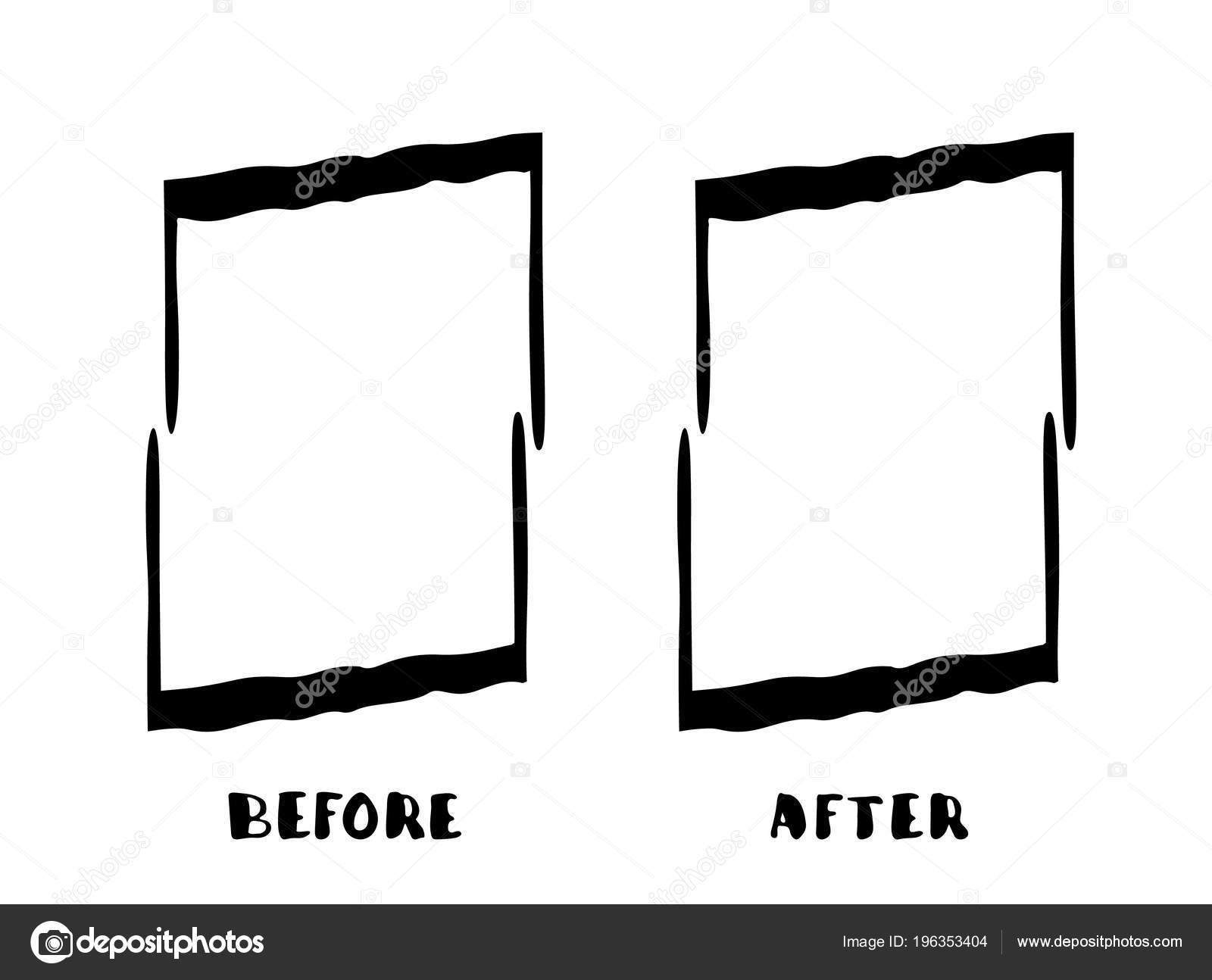 Grunge Frames Isolated White Background Comparison Banner Empty ...