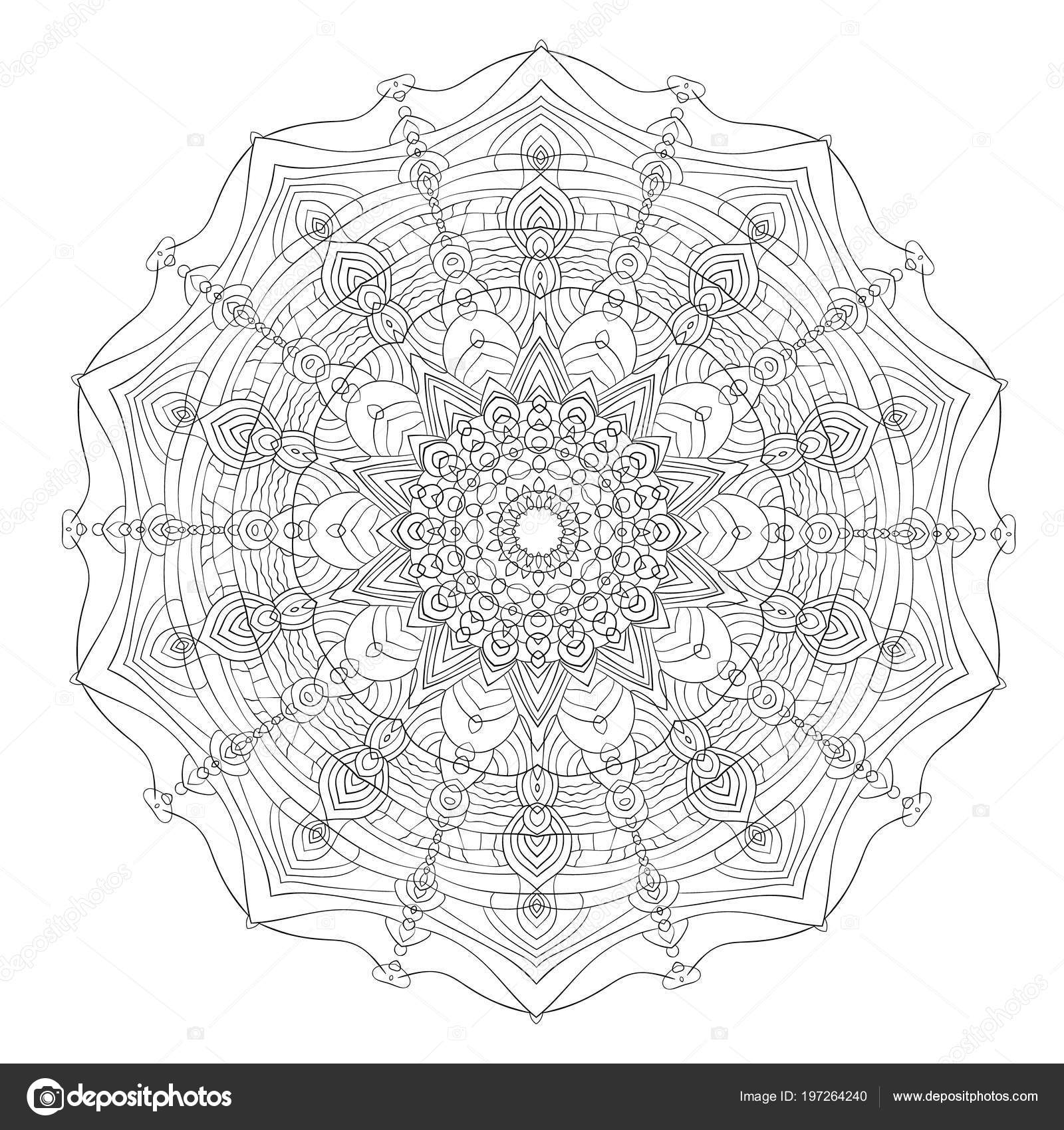 depositphotos stock illustration black white mandala vintage decorative