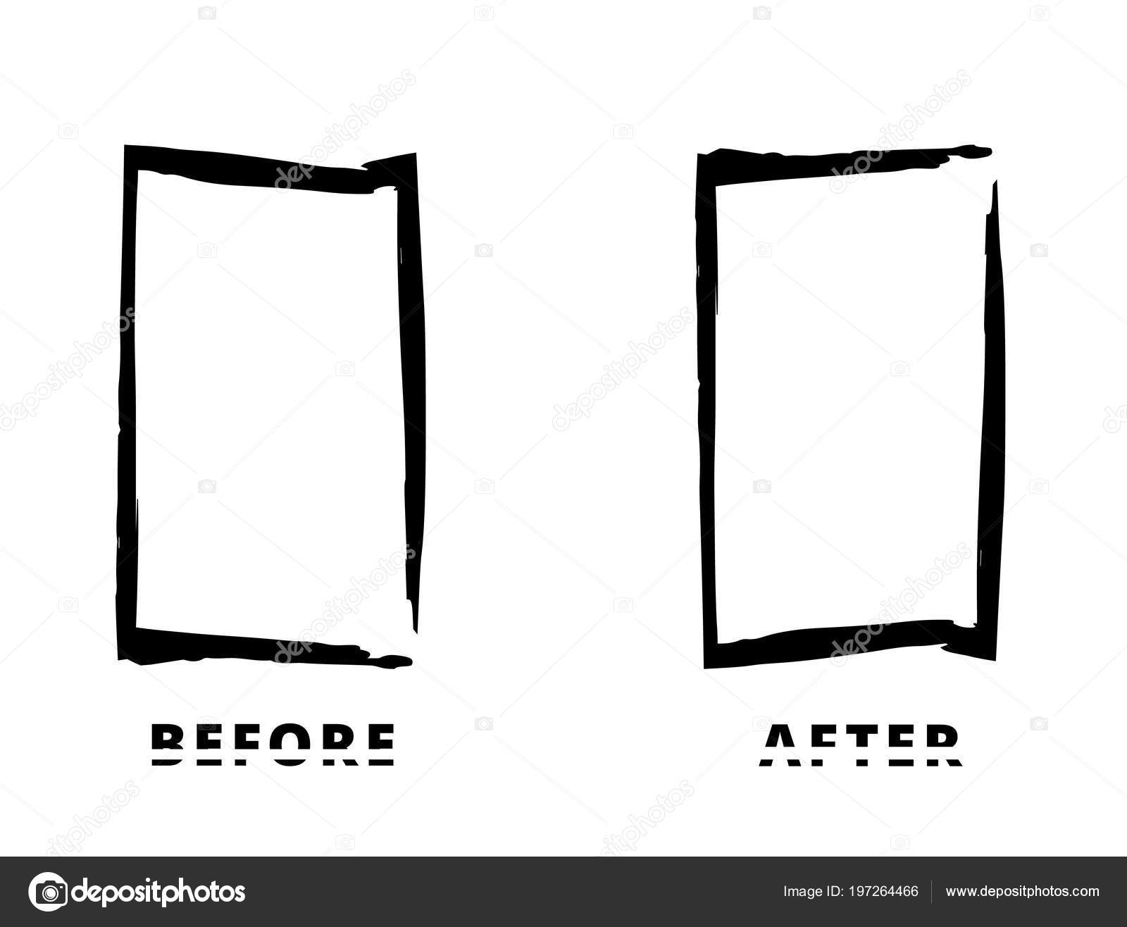 Grunge Frames Isolated White Background Sliced Text Effect ...