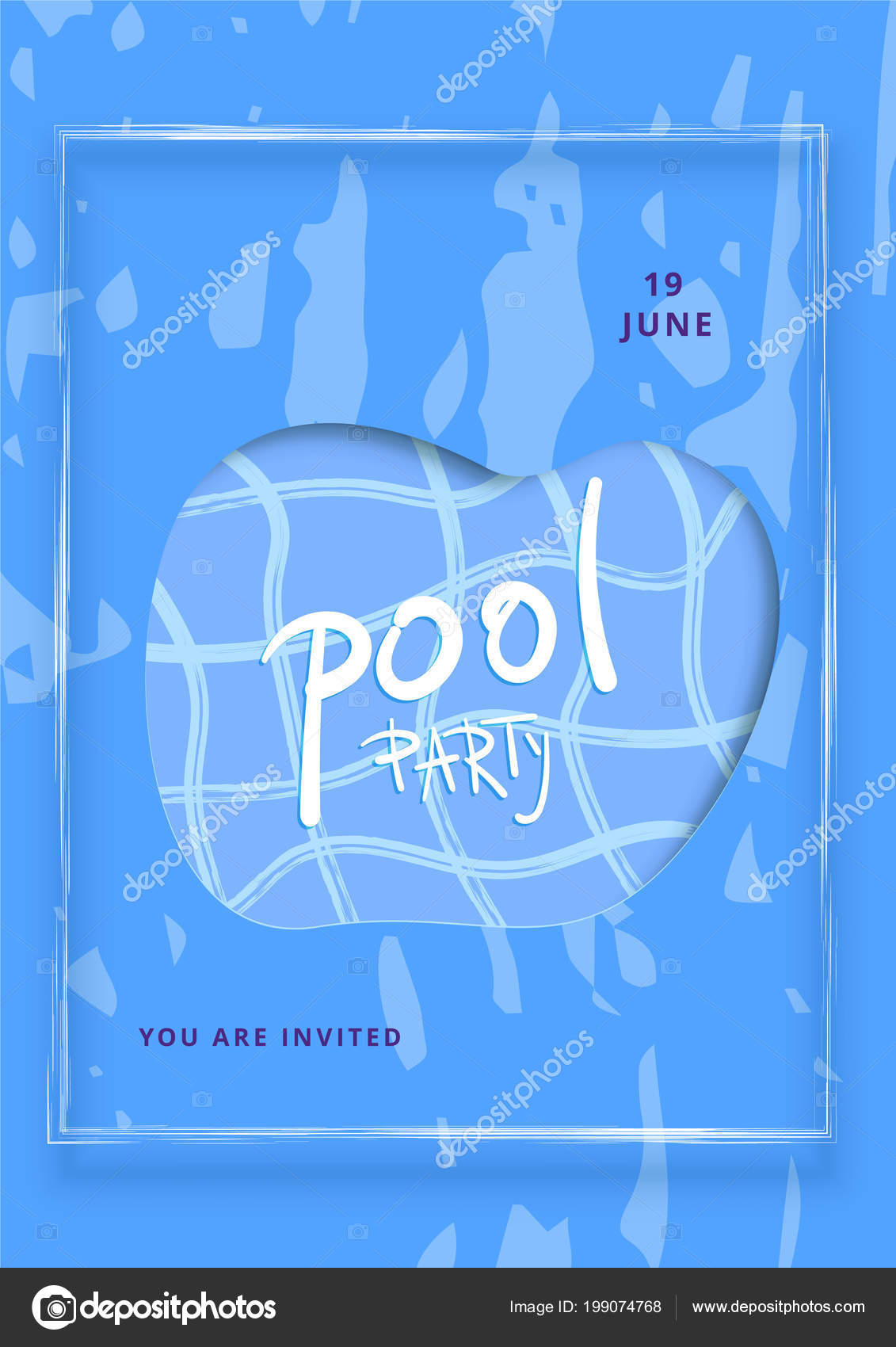 Vertical pool party banner template holiday summer flyer design blue vertical pool party banner template holiday summer flyer design blue stock vector maxwellsz