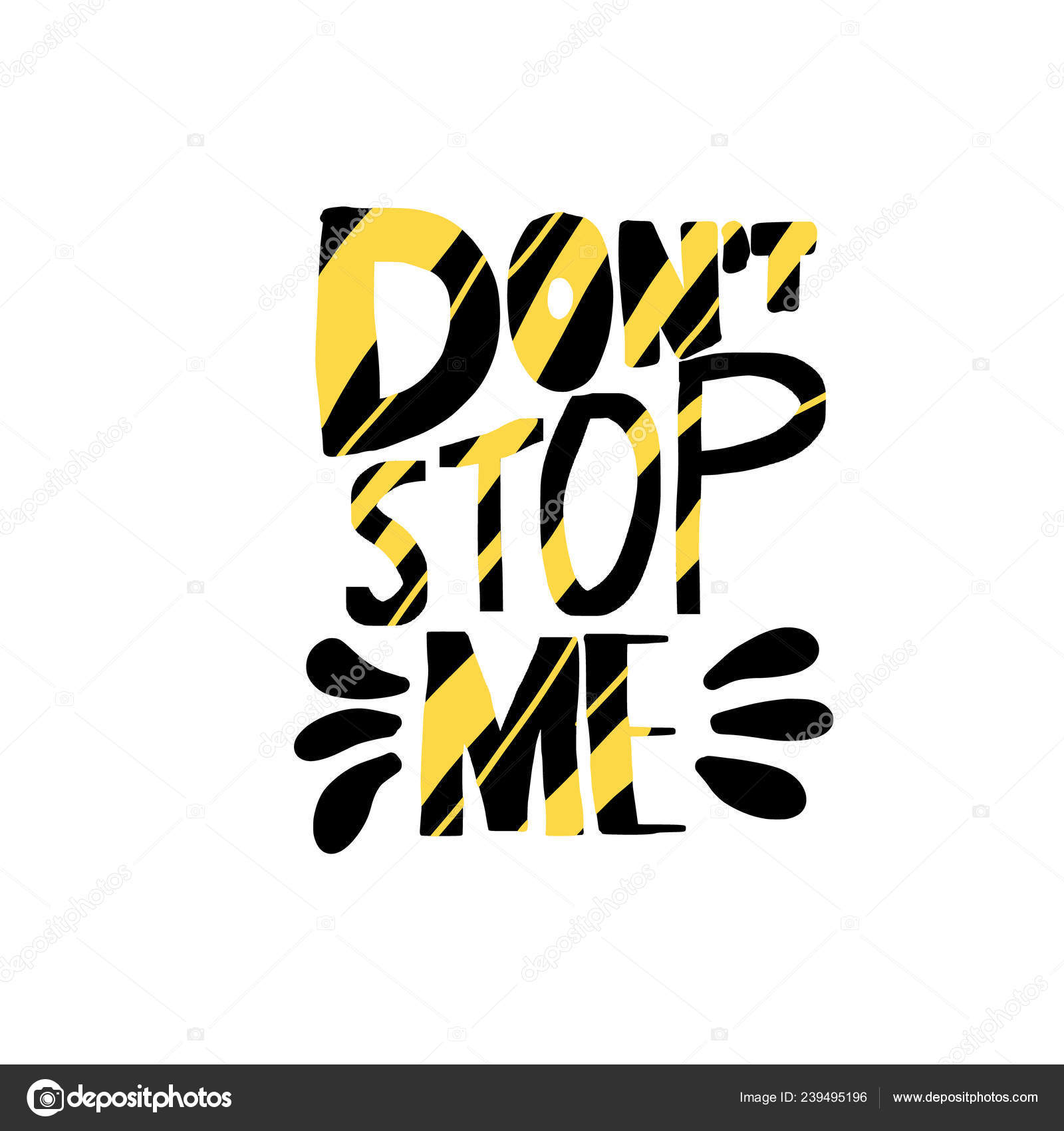 Dont stop me quote Vector color illustration — Stock