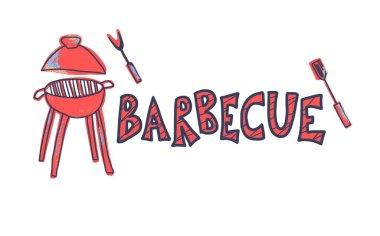 Barbecue composition. Vector design.
