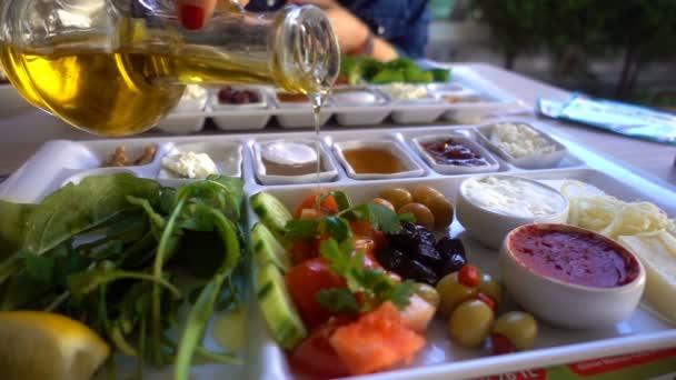 tradiční turecká snídaně a jídlo