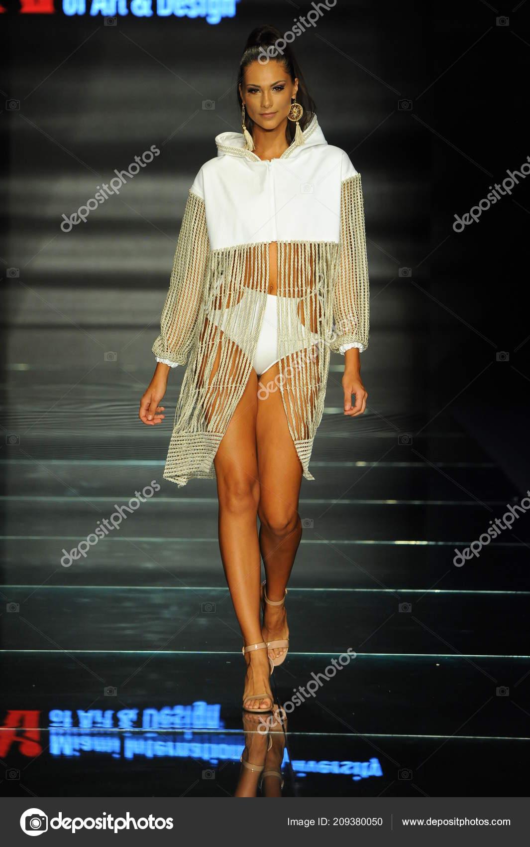 Miami Beach July Model Wears Fashions Design Students Miami International Stock Editorial Photo C Fashionstock 209380050