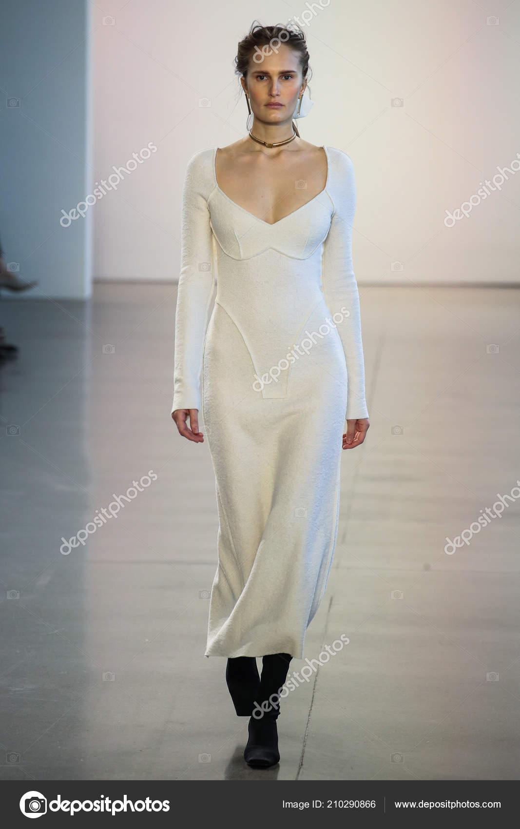 New York February Model Alla Kostromichova Walks Runway