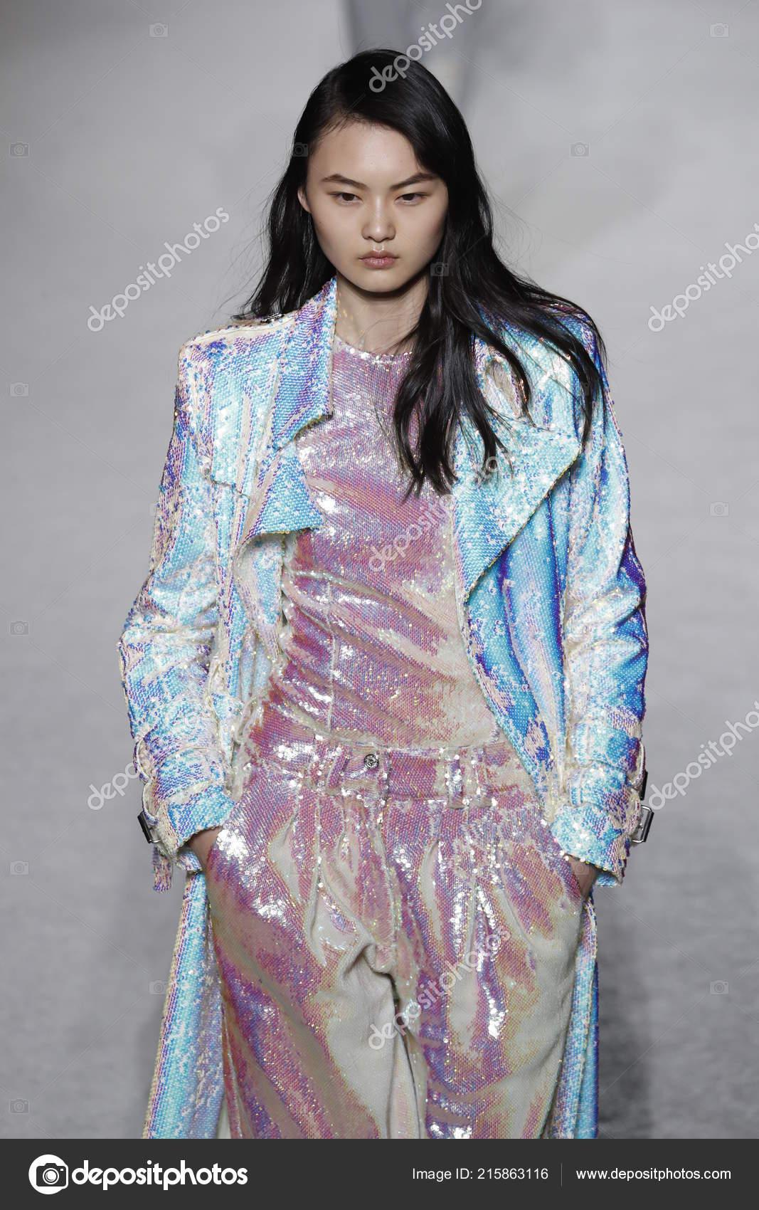 paris france march model walks runway balmain show part paris