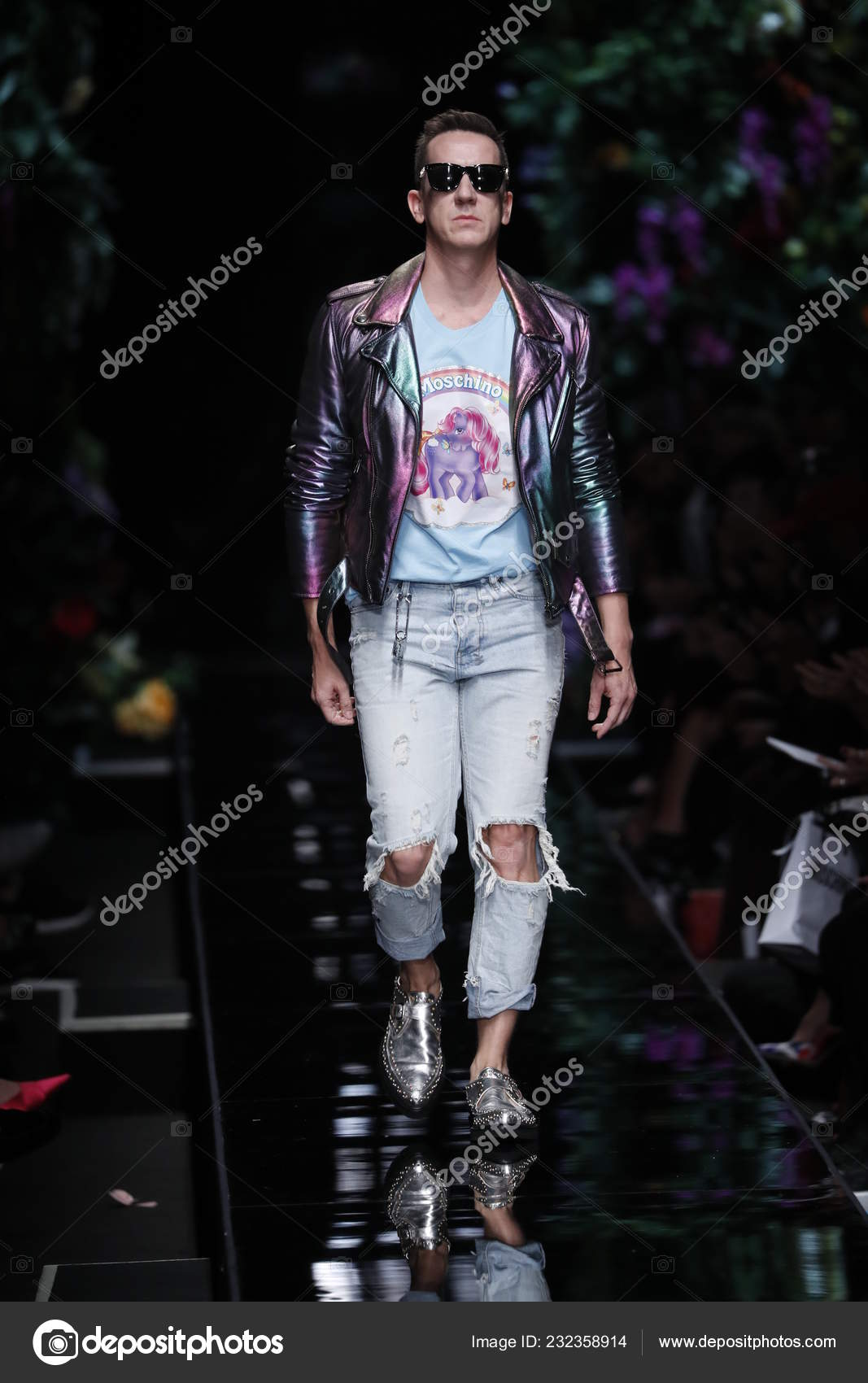 ba7d51cb80d Milan Italy September Designer Jeremy Scott Walks Runway Moschino ...