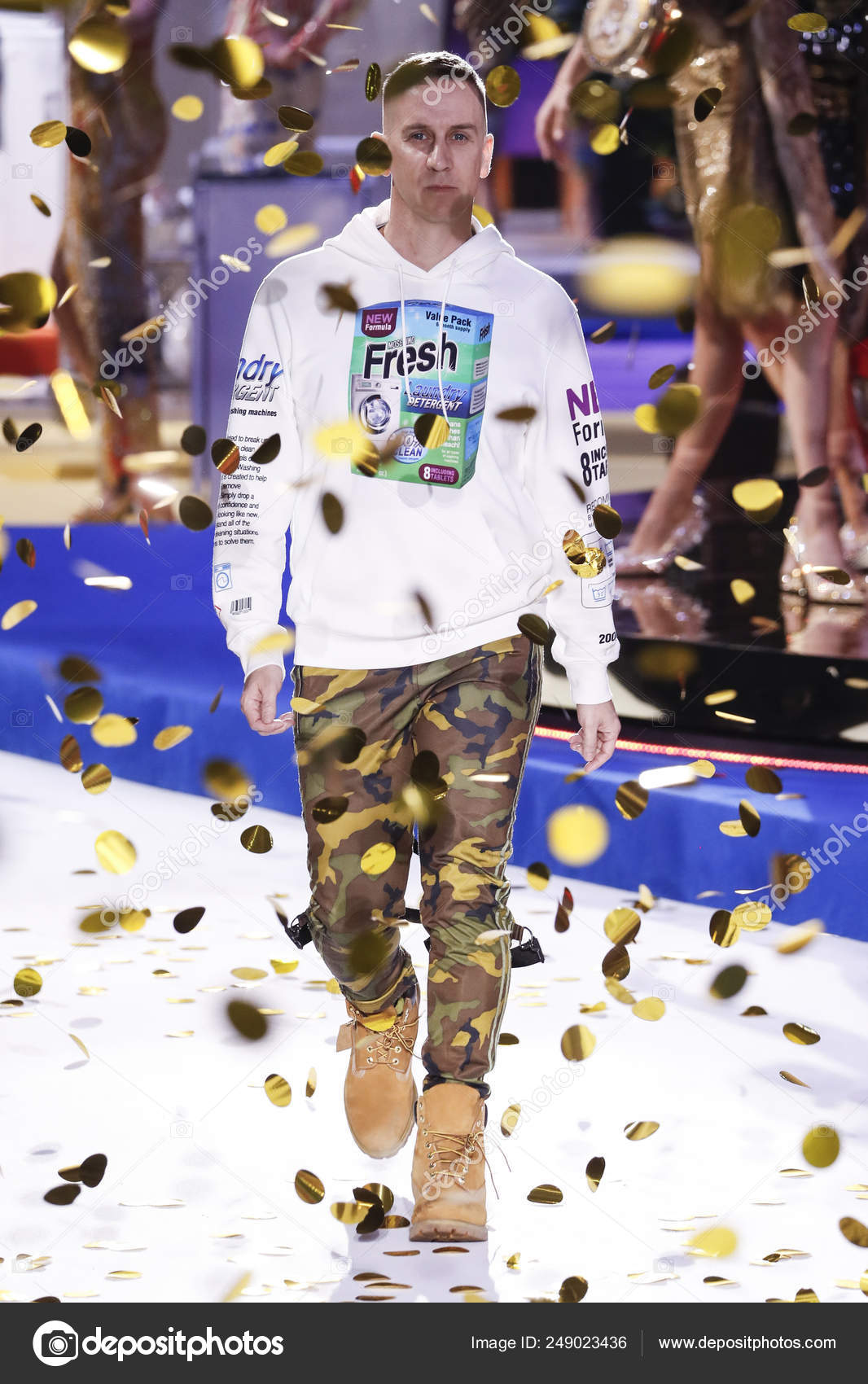 Milan Italy February Designer Jeremy Scott Walks Runway Moschino Show Stock Editorial Photo C Fashionstock 249023436