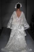 NEW YORK, NY - APRIL 13: A model walks the runway  during the Irina Shabayeva Bridal Spring 2020 fashion collection at New York Fashion Week: Bridal on April 13, 2019 in NYC.