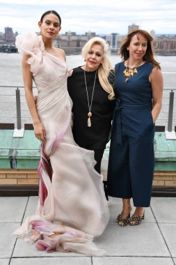 NEW YORK, NY - APRIL 15: Ines Di Santo, Veronica Di Santo and model posing during the Ines Di Santo Spring 2020 bridal fashion presentation at New York Fashion Week: Bridal on April 15, 2019 in NYC.