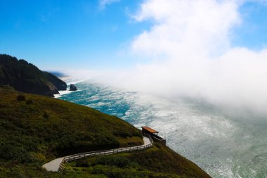 Beautiful view of highway 1 along the Pacific coast.