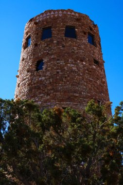 Indian Desert View Watchtower, the southern edge of the Grand Canyon, Arizona, USA