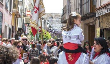 Parade at caballos Del Vino in Caravaca de la Cruz, Spain on May 2nd 2019.