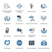 Questo set contiene icone di specialità che possono essere utilizzate per progettare e sviluppare siti Web, nonché di materiale stampato e presentazioni e servizi medici.
