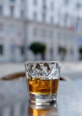 glass of whiskey outdoor