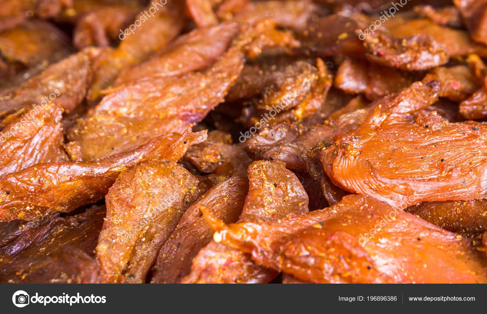 Chicken Jerky Pieces Fillet Soy Sauce Stock Photo C Seqoya