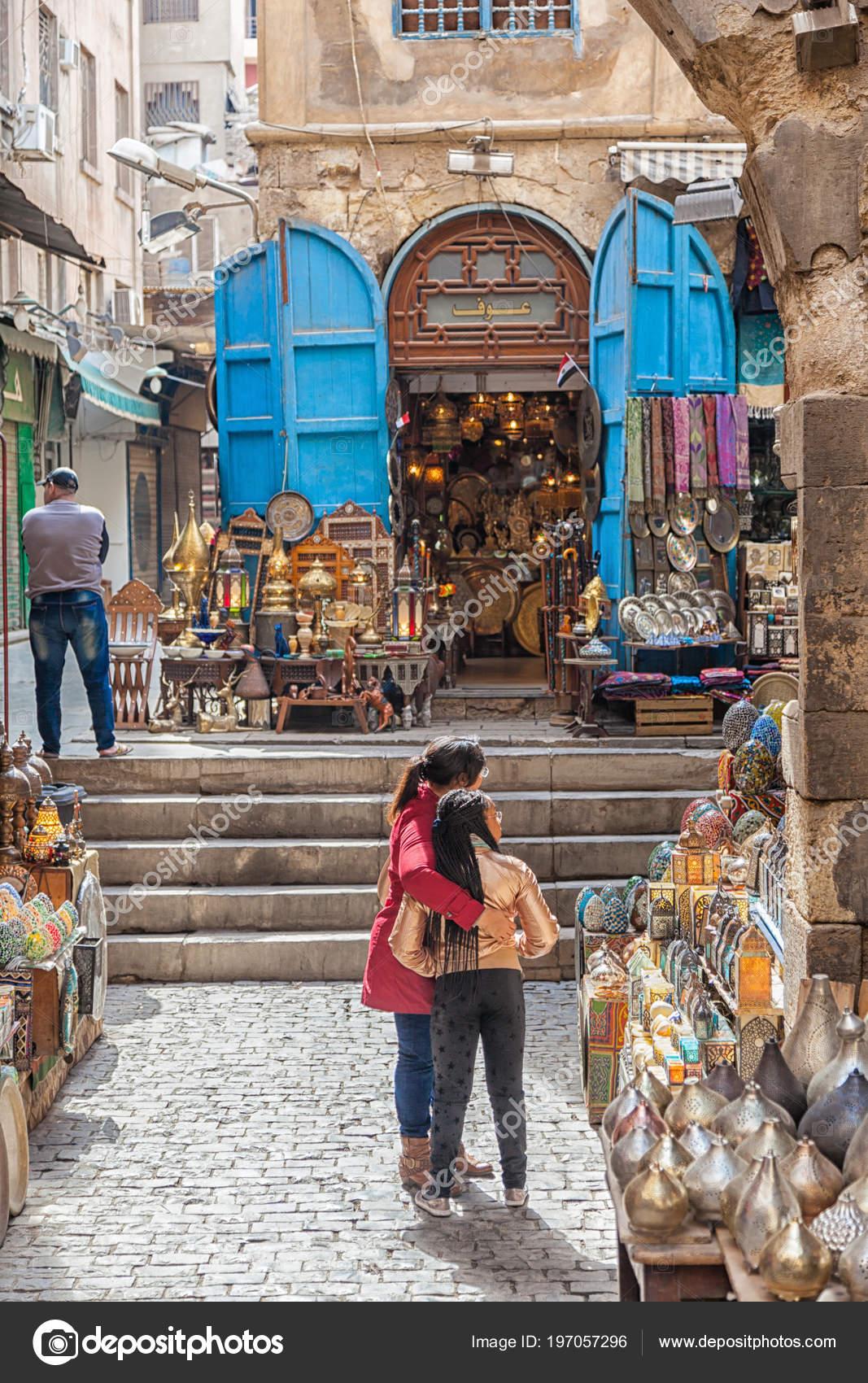 Cairo Egypt Feb 2018 Tourists Lanterns Shop Khan Khalili Market Stock Editorial Photo C Merrydolla 197057296