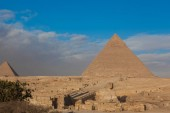 Photo Egypt Cairo - Giza. General view of pyramids