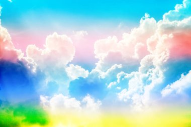 creative cloudy sky background with bright colors