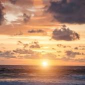Beautiful sunset over Indian Ocean, dramatic sky