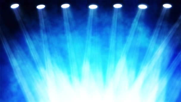 Felvétel fényes színpadon spotlámpa, színes háttér