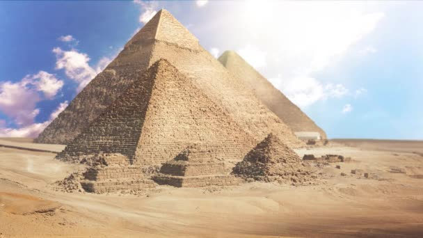 General view of pyramids