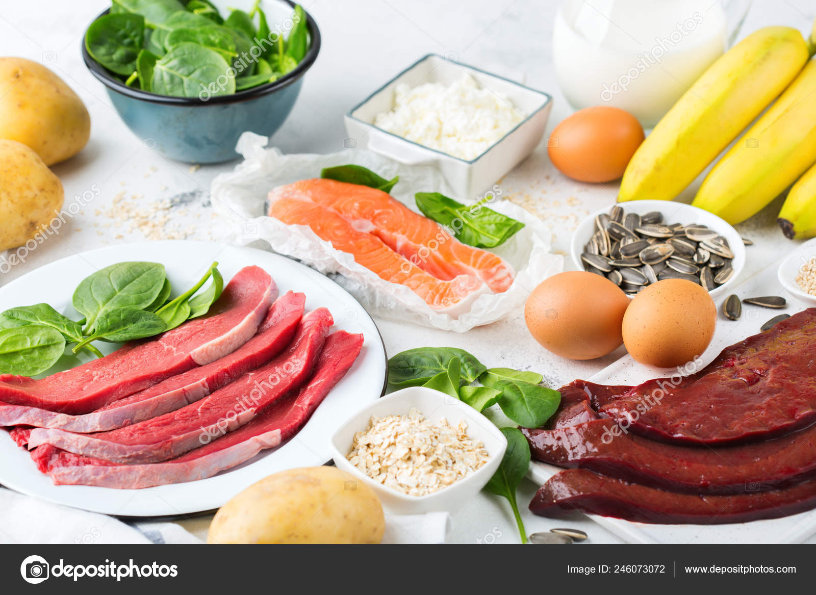 Balanced Diet Nutrition Healthy Eating Concept Food Sources